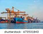 container container ship in...   Shutterstock . vector #673531843
