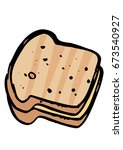 sandwich toast and cheese   Shutterstock .eps vector #673540927