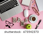 working space business... | Shutterstock . vector #673542373