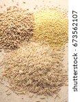 heaps of grain | Shutterstock . vector #673562107