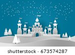 vector illustration of castle... | Shutterstock .eps vector #673574287