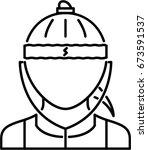 athlete outline icon | Shutterstock .eps vector #673591537