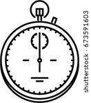 stopwatch outline icon | Shutterstock .eps vector #673591603