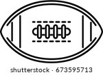rugby ball outline icon  | Shutterstock .eps vector #673595713