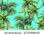 beautiful seamless vector... | Shutterstock .eps vector #673598443