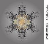 vector ornamental pattern in...   Shutterstock .eps vector #673609663