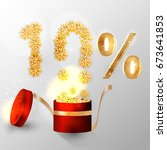 10  discount. seasonal sale.... | Shutterstock .eps vector #673641853
