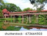 sanam chandra palace  nakhon...   Shutterstock . vector #673664503