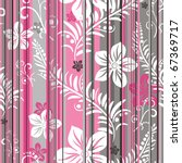 Pink Grey White Floral ...