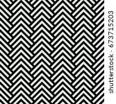 black and white chevron... | Shutterstock .eps vector #673715203