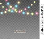 vector horizontally seamless... | Shutterstock .eps vector #673736407
