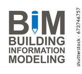 bim vector icon. building... | Shutterstock .eps vector #673746757