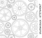 figure gears on a white... | Shutterstock .eps vector #673764067