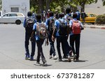saint louis  senegal   apr 24 ... | Shutterstock . vector #673781287