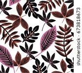 Stock vector flower pattern 673818673