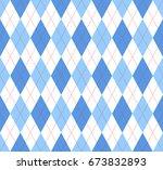seamless argyle plaid pattern... | Shutterstock .eps vector #673832893