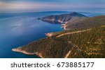 aerial view at the island of... | Shutterstock . vector #673885177