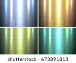 metal textures backgrounds ... | Shutterstock .eps vector #673891813