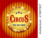 circus banner | Shutterstock . vector #673897837