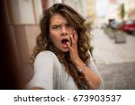 Young Woman Showing Disturbanc...