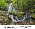 spruce flats falls in the great ... | Shutterstock . vector #673904767