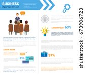 business infographics set with... | Shutterstock .eps vector #673906723