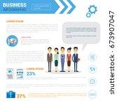business infographics set copy... | Shutterstock .eps vector #673907047