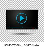 video player vector  play... | Shutterstock .eps vector #673908667