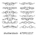 set of decorative elements.... | Shutterstock .eps vector #673911217