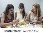 art workshop    Shutterstock . vector #673914517