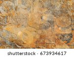 abstract grunge   rough ... | Shutterstock . vector #673934617