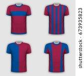 realistic t shirt template set... | Shutterstock .eps vector #673935823