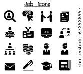 job   staff recruitment icon... | Shutterstock .eps vector #673938997