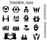 friendship icon set | Shutterstock .eps vector #673939243