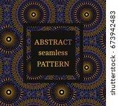 vector seamless pattern vintage ... | Shutterstock .eps vector #673942483