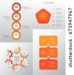 vector circle infographic set.... | Shutterstock .eps vector #673947967
