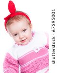 baby in studio against a white... | Shutterstock . vector #67395001