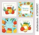 rosh hashanah jewish new year... | Shutterstock .eps vector #673950997