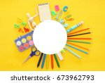 back to school concept on... | Shutterstock . vector #673962793