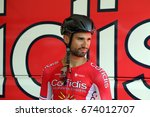 nacer bouhanni of the confidis... | Shutterstock . vector #674012707
