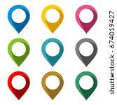 blank location point vector set | Shutterstock .eps vector #674019427