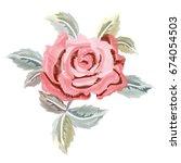 embroidery  imitation satin... | Shutterstock .eps vector #674054503