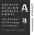 silver alphabet | Shutterstock .eps vector #674061877