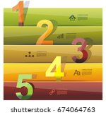 banners with color numbers  can ...