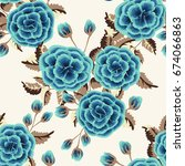 seamless pattern in small cute...   Shutterstock .eps vector #674066863