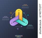 modern infographic design... | Shutterstock .eps vector #674075197