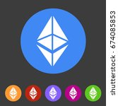 ethereum cryptocurrency icon...   Shutterstock .eps vector #674085853