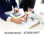 business adviser analyzing...   Shutterstock . vector #674091997