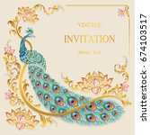 wedding invitation card... | Shutterstock .eps vector #674103517
