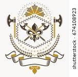 vintage award design  vintage... | Shutterstock .eps vector #674108923